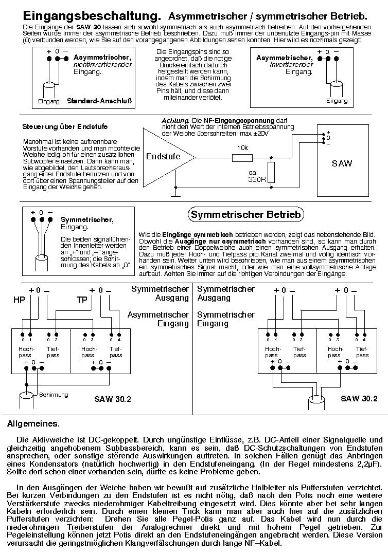 Aktivmodule; Aktivweiche SAW 30; Subwoofermodul; Sub-Sat-Weiche ...